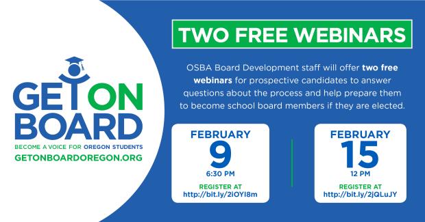 Becoming a School Board Member Free Webinar Feb 9, 2017 Website-webinars